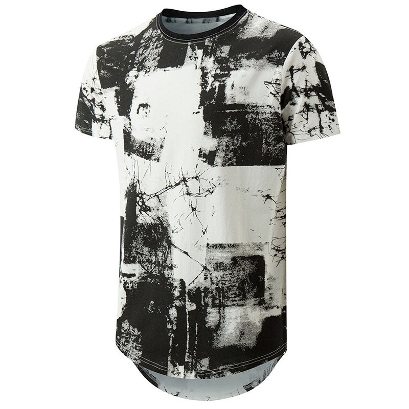 Round-neck 3D Three-dimensional Printing Men's T-shirt