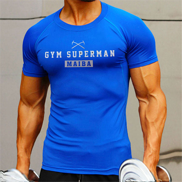 Printing Quick Drying Round Neck Short Sleeves Men's T-shirt