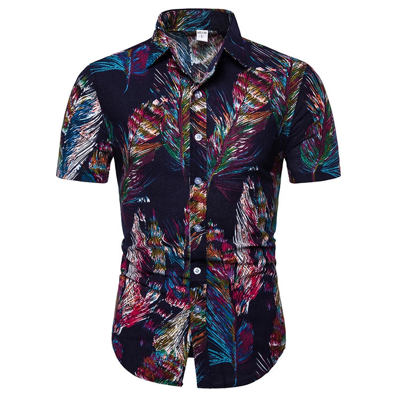 Feather Printed Holiday Men Shirt