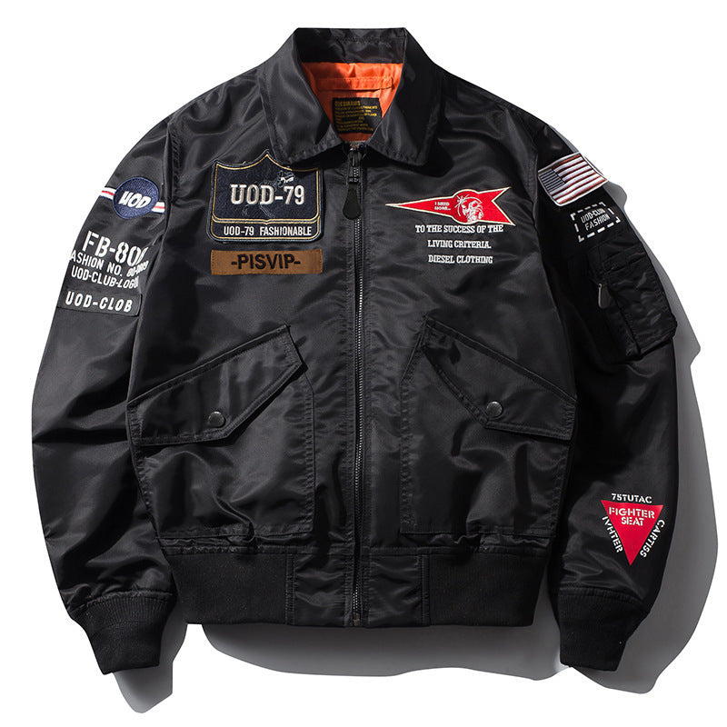 Loose Lapel Flight Bomber Men Jacket