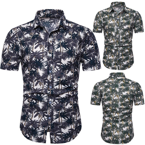 Loose Hawaii Printed Holiday Men Shirt