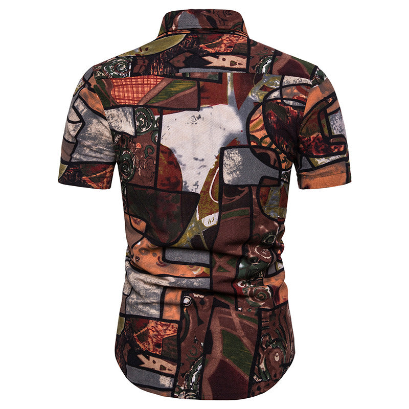 Digital Printed Holiday Men Shirt