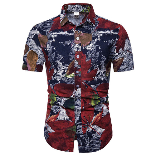 Exquisite Printed Holiday Men Shirt