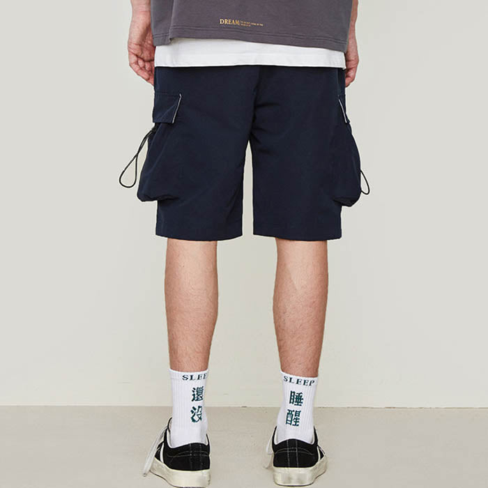 Street Hip-hop 3D Pocket Design Loose Men's Shorts