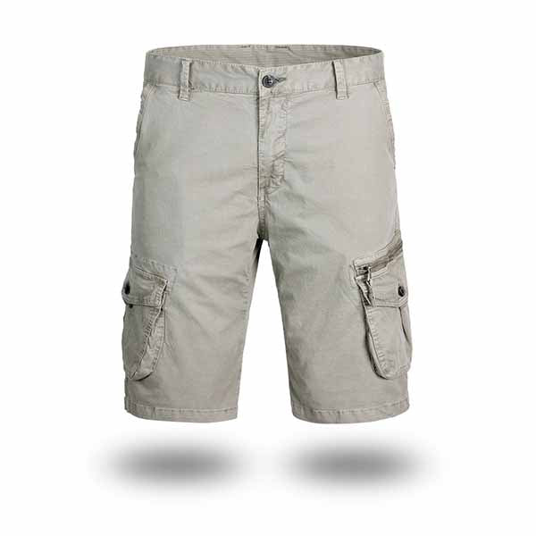Retro Washed Camo Multi-pocket Men's Shorts