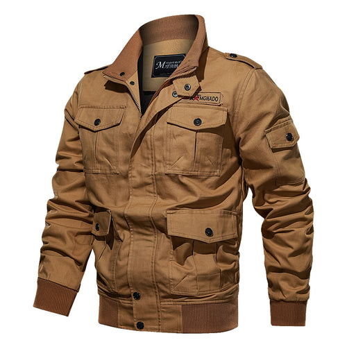 Plus Size Multi-pocket Flying Men's Jacket