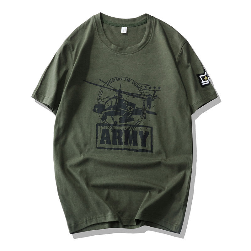 Air Force No. 1 Loose Men's Cargo T-shirt - KINGEOUS