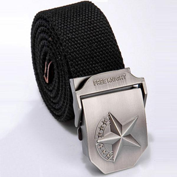 Solid Color Star Design Men Belt