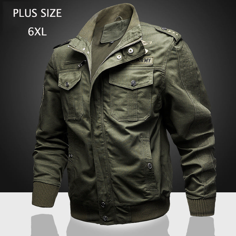 M-8XL Mens Solid Color Stand Collar PU Leather Padded Plush Thicken Jacket C329