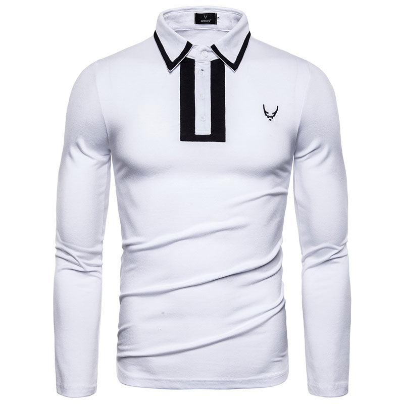 Embroidery Lapel POLO Men's T-shirt