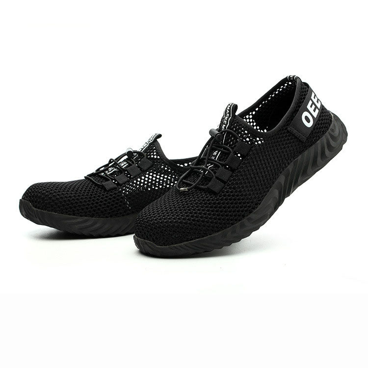 Breathable Mesh Surface Work Safety Shoes - KINGEOUS