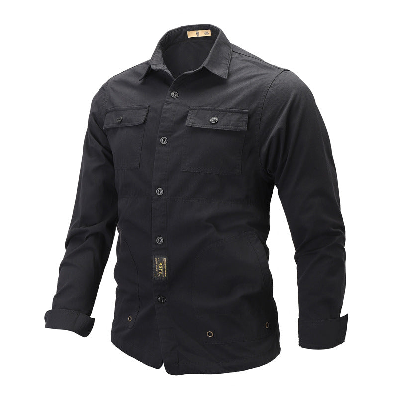 Outdoor Long Sleeve Lapel Men's Shirt
