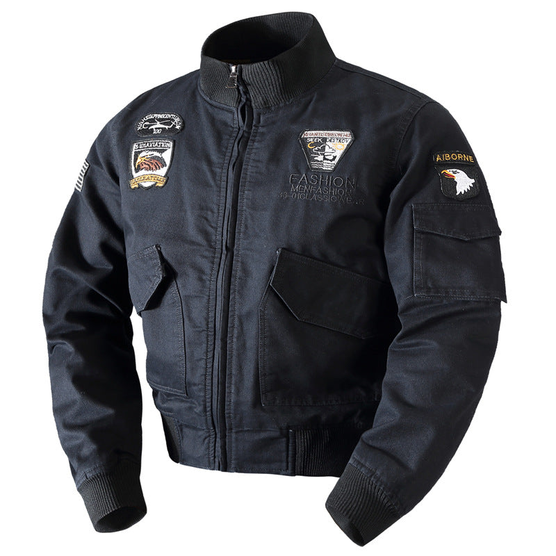 Fashion Lapel Flight Men's Jacket