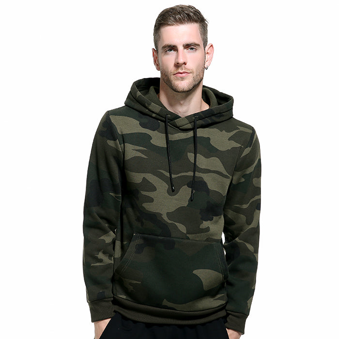 European Size Leisure Hooded Camo Men's Hoodie - KINGEOUS