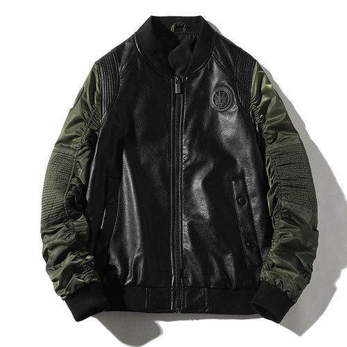 Leather Split Men's Flight Jacket