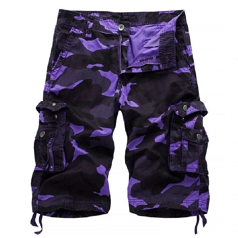 Casual Loose Multicolor Camouflage Men's Beach Shorts