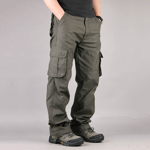 Casual Multi Pocket Military Plus Size Men's Cargo Pants - KINGEOUS