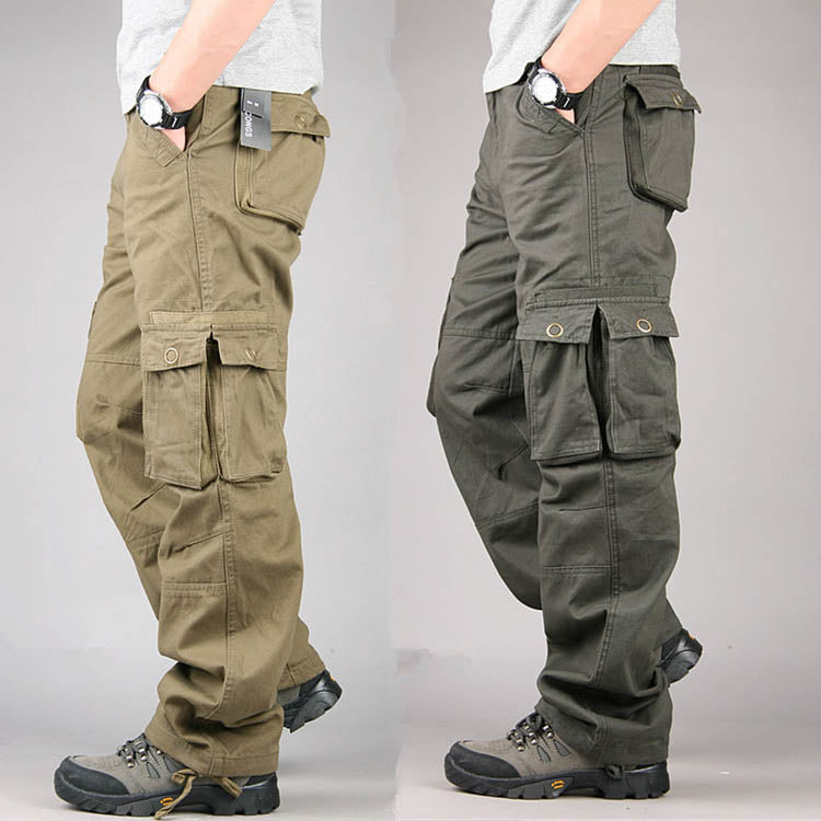 Outdoors High Quality Loose Cotton Men's Cargo Pants