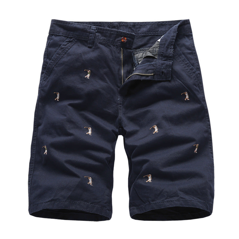 Casual Embroidered Men's Shorts