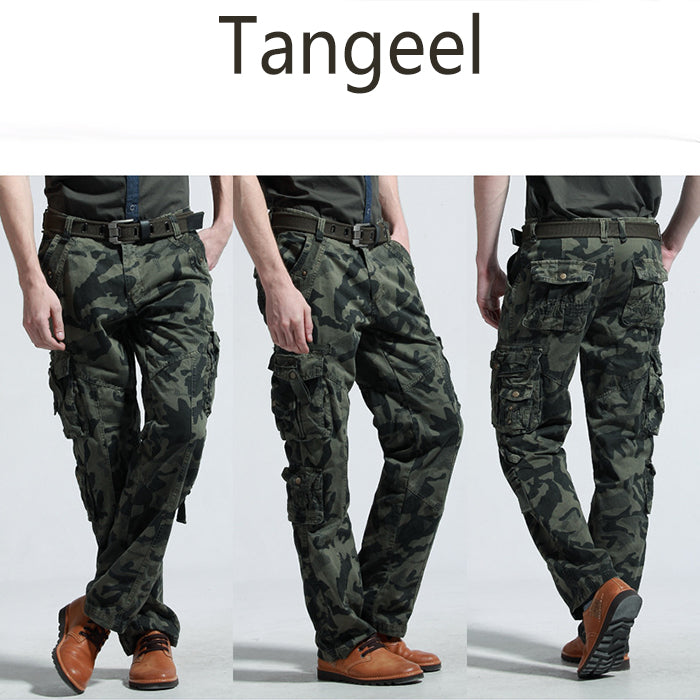 Fashion Camo Military Style Multi-Pocket Tactical Men's Pants
