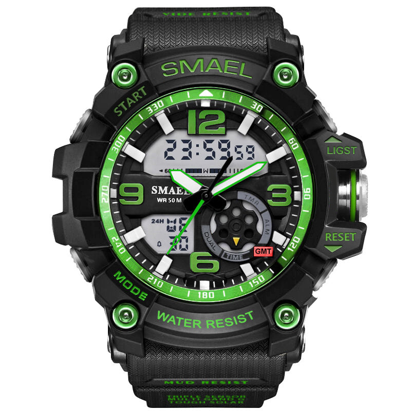 Multifunction Waterproof 30m LED Electronic Sport Men Wristwatch