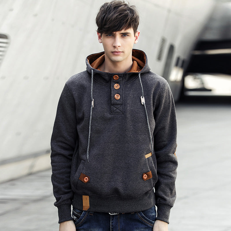 Fashion Solid Color All-match Men's Hoodie
