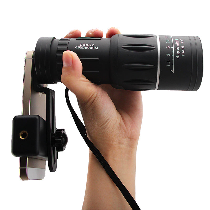 16 x 52 Dual Focus Monocular Spotting Telescope with Phone Clip - KINGEOUS