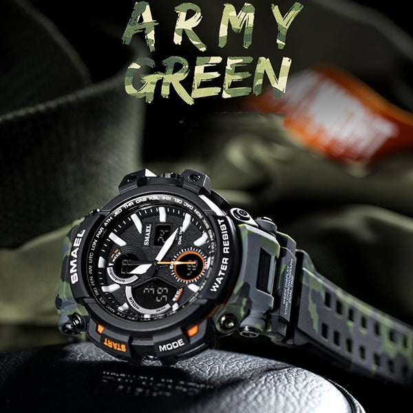 Sports Outdoor Camo Off-road style Men Wristwatch