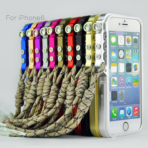 Aluminum Alloy Frame Shock-proof Phone Case for Iphone 5/5S/6/6Plus - KINGEOUS