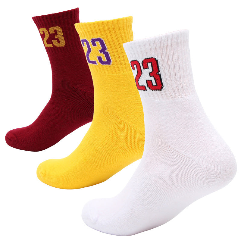 Number 23 Sweat Absorbing Slip-proof and Shock Absorbing Basketball Socks