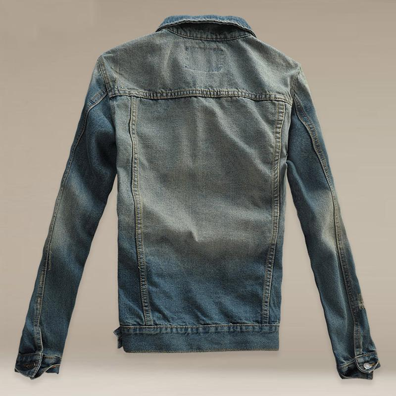 Fashion Retro Old Denim Men's Jacket