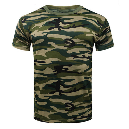 Camouflage Short Sleeve Round Neck Breathable Men's T-shirt