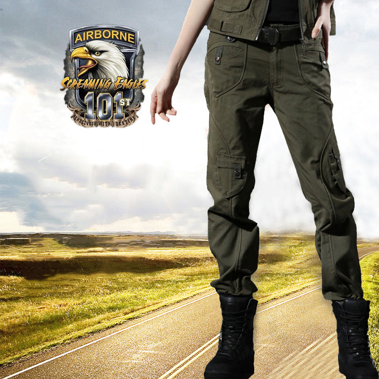 Casual Slim Military Outdoor Women's Cargo Pants - KINGEOUS