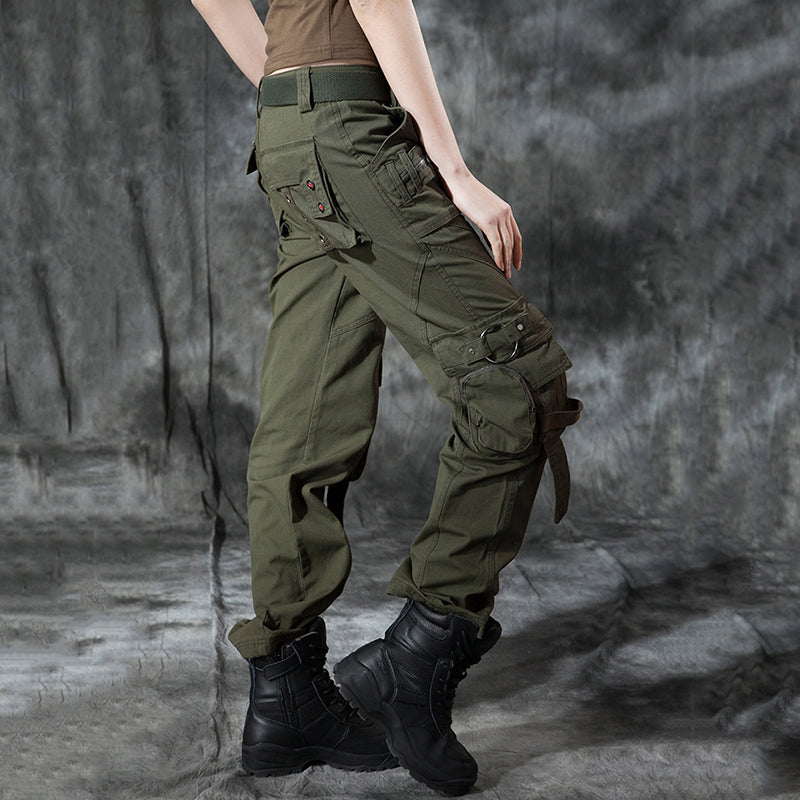 Cool Multi-pocket Military Women's Cargo Pants - KINGEOUS