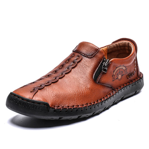 Simple Causal Leather Men's Shoes