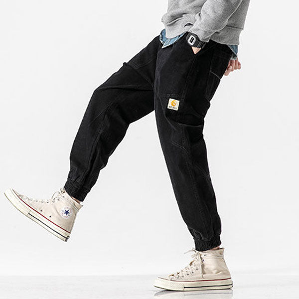 Spring Simple Pocket Casual Straight Men Pants