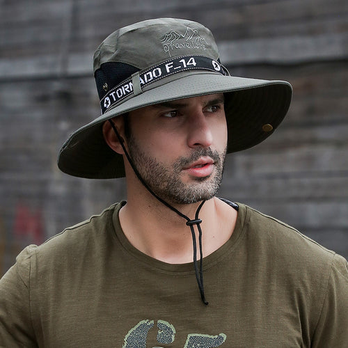 Outdoor Summer Fishing Waterproof Quick-drying Men's Hat