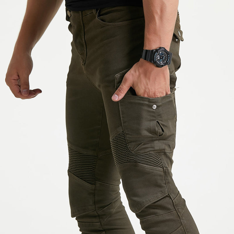 Motorcycle Riding Men's Pants with Knee Pads