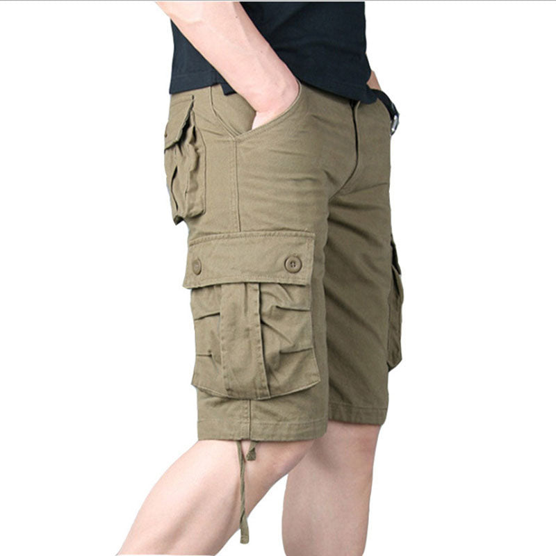 Summer Casual Cotton Large Pocket Men's Shorts