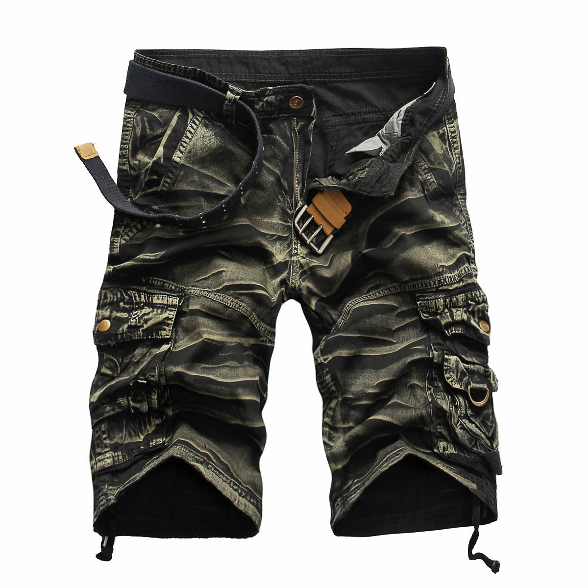 Cool Camouflage Summer Cotton Men Cargo Shorts - KINGEOUS
