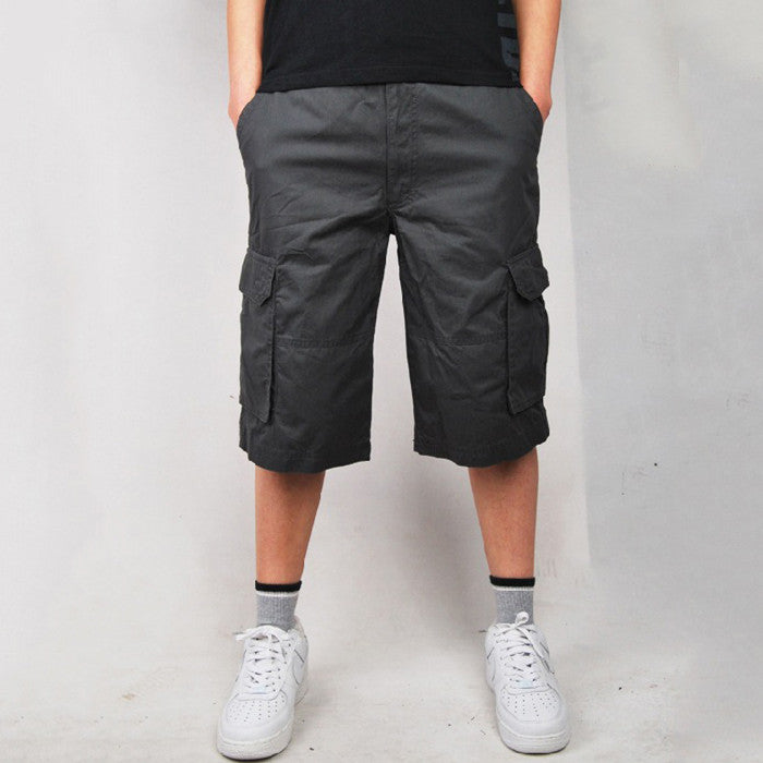 Large Size Pure Cotton Multi-Pocket Outdoor Men's Shorts
