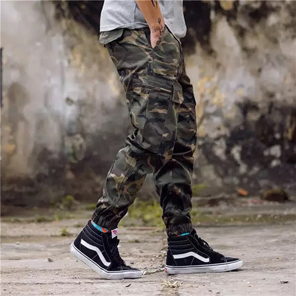 2019 Fashion Streetwear Jeans Jogger Ankle Banded Pants - KINGEOUS