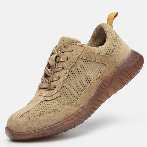 Breathable Men Safety Shoes Steel Toe Leather Men's Work Shoes