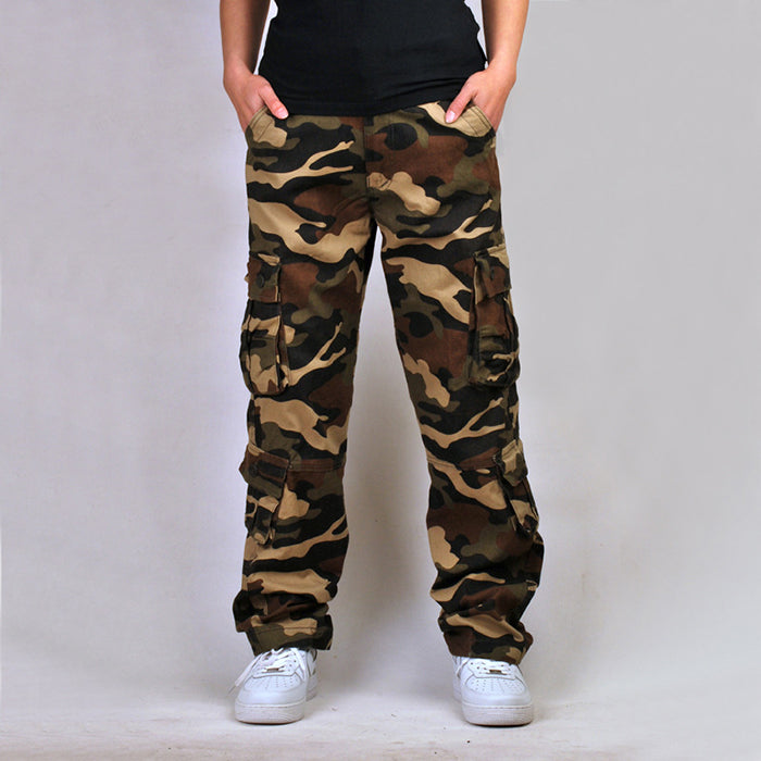 Plus Size Loose Multi-Pocket Camo  Men's Cargo Pants