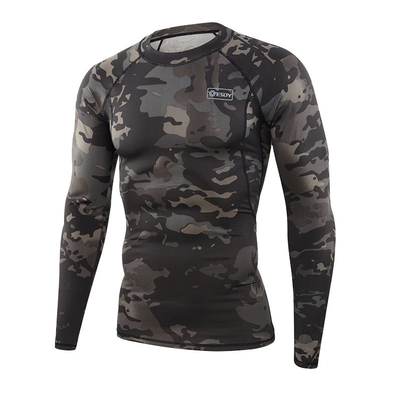 Sports Outdoor Camo Warm Men's Thermal Underwear Set