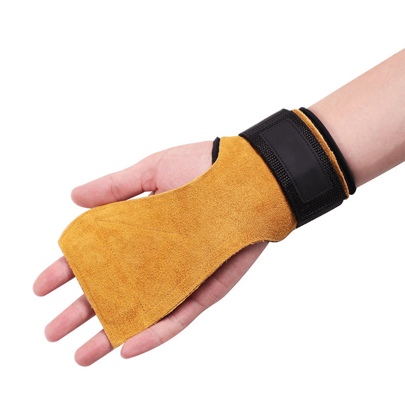 Cowhide Fitness Palm Guard Non-slip Wear-Resistant Wristband