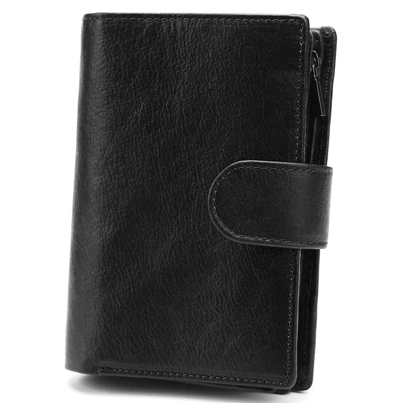 Retro Multi-function Leather Money Coin Credit Card Men's Wallet