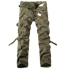 Causal Pockets Design Outdoor Cotton Men's Cargo Pants - KINGEOUS