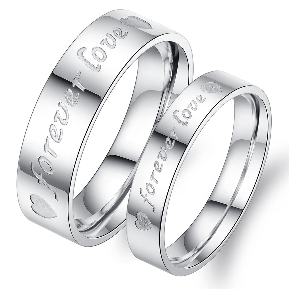 products daily personalized forever love black rings couple customized steel couples customize evermaker titanium women