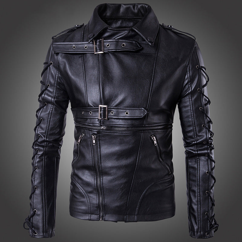 Fashion Locomotive Large Size PU Men Jacket